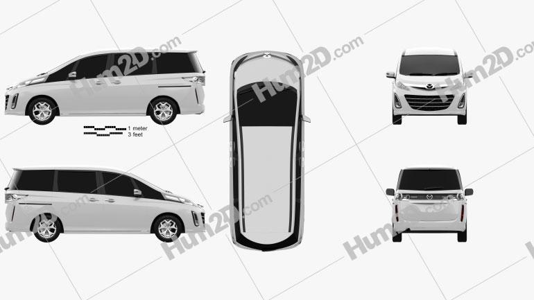 Mazda Biante 2012 Clipart Image