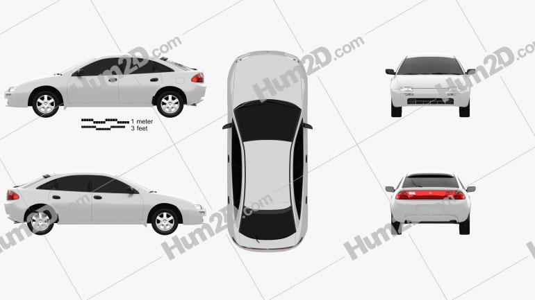 Mazda 323 (Familia) 1994 Clipart Image