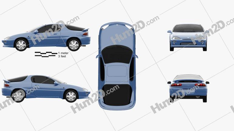 Mazda MX-3 1992 Clipart Image