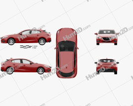Mazda 3 hatchback with HQ interior 2014
