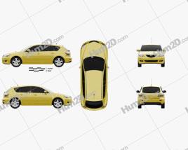Mazda 3 hatchback 2003 car clipart