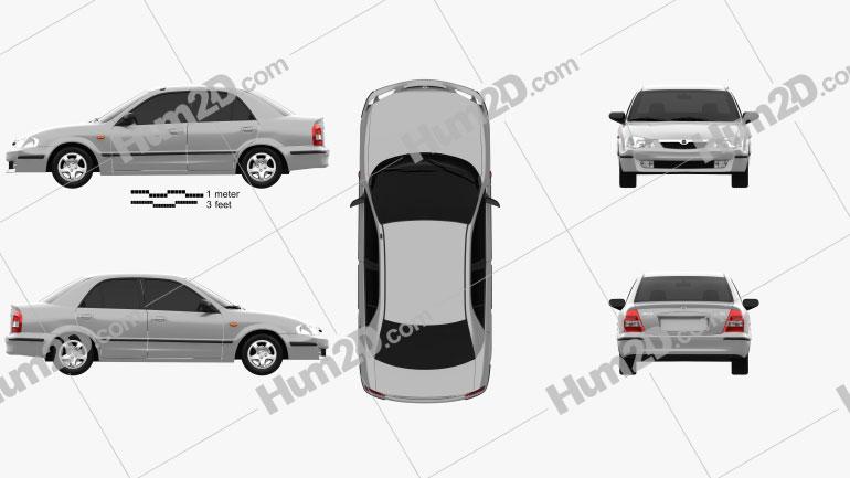 Mazda 323 (Familia) 1998 car clipart