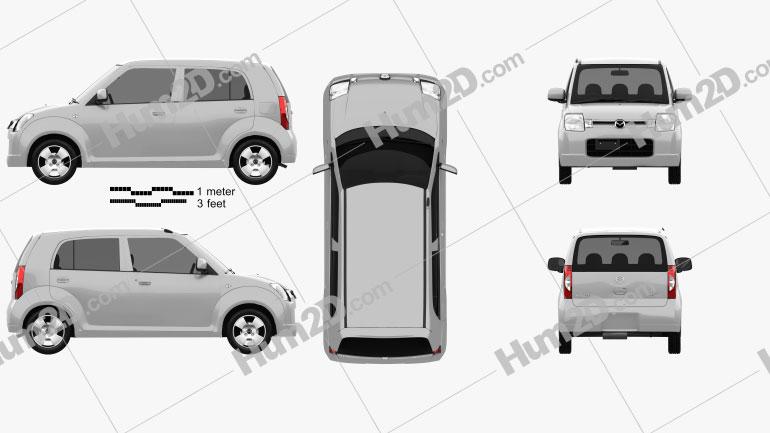 Mazda Carol 2004 Clipart Image