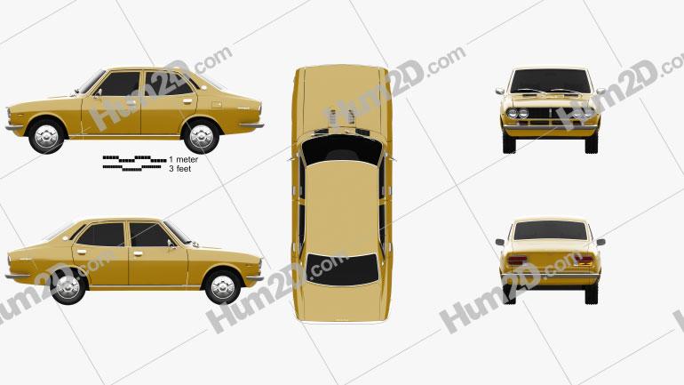 Mazda Capella (616) sedan 1974 Clipart Image