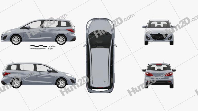 Mazda 5 with HQ interior 2010 clipart