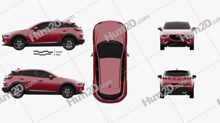 Mazda CX-3 2016 Clipart Image