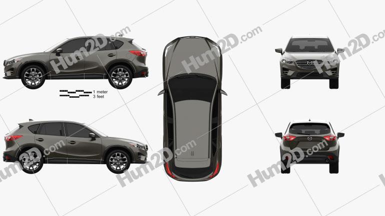 Mazda CX-5 (KE) 2016 Clipart Image