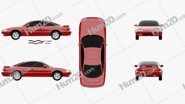 Mazda MX-6 1992 car clipart