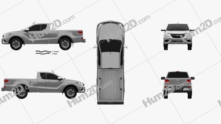 Mazda BT-50 Freestyle Cab 2016 car clipart