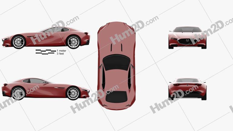 Mazda RX Vision 2015 car clipart