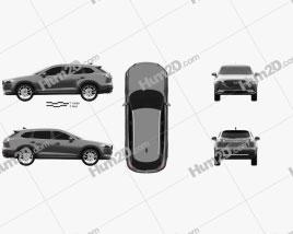 Mazda CX-9 2016 car clipart
