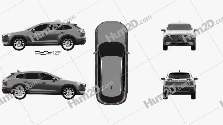 Mazda CX-9 2016 Clipart Image
