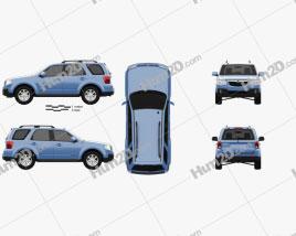 Mazda Tribute 2007 car clipart