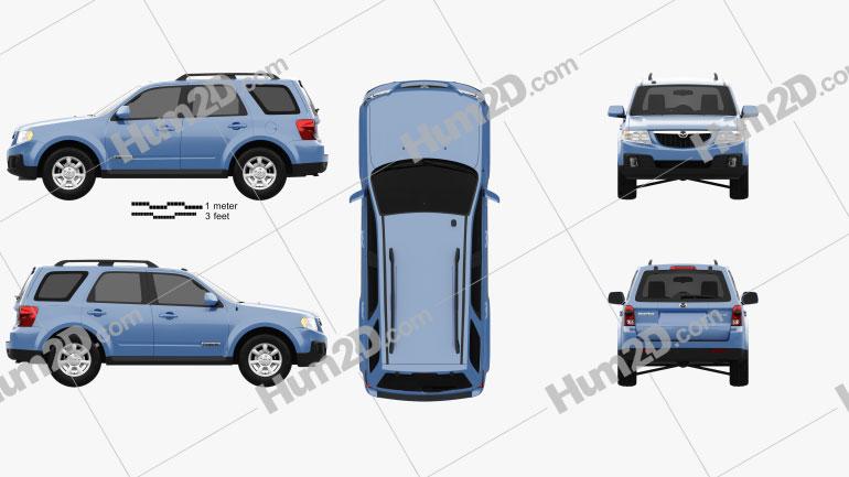 Mazda Tribute 2007 Clipart Image