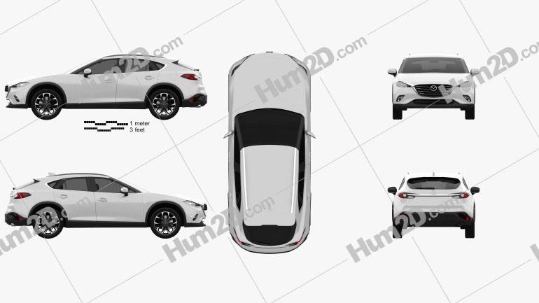 Mazda CX-4 2016 car clipart