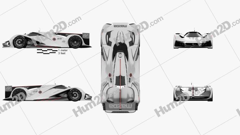 Mazda LM55 Vision Gran Turismo 2014 car clipart