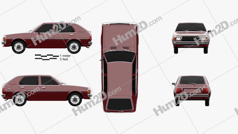 Mazda 323 (Familia) 1978 car clipart