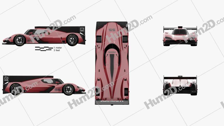 Mazda RT24-P Racecar 2017 car clipart