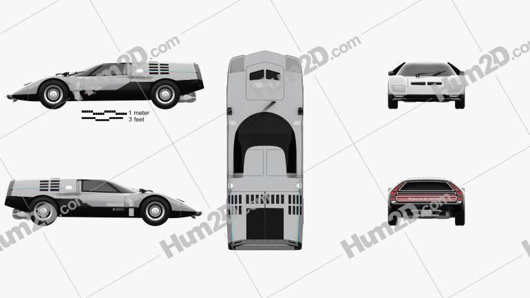 Mazda RX-500 1970 car clipart