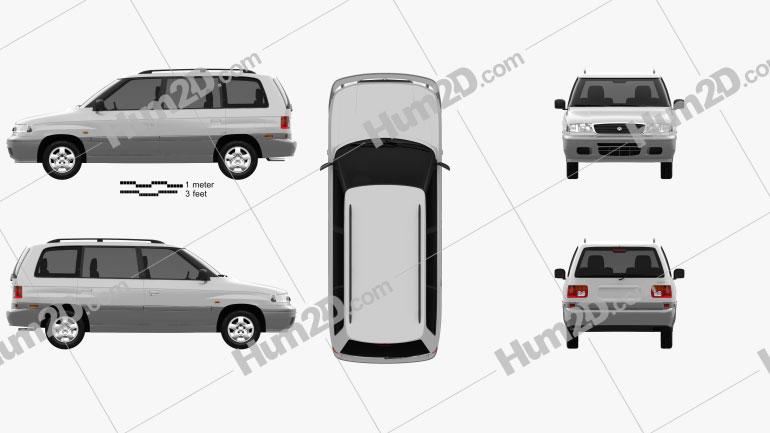 Mazda MPV (LV) 1997 Clipart Image