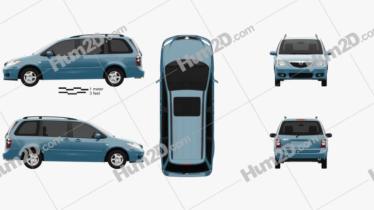 Mazda MPV (LW) 2002 clipart