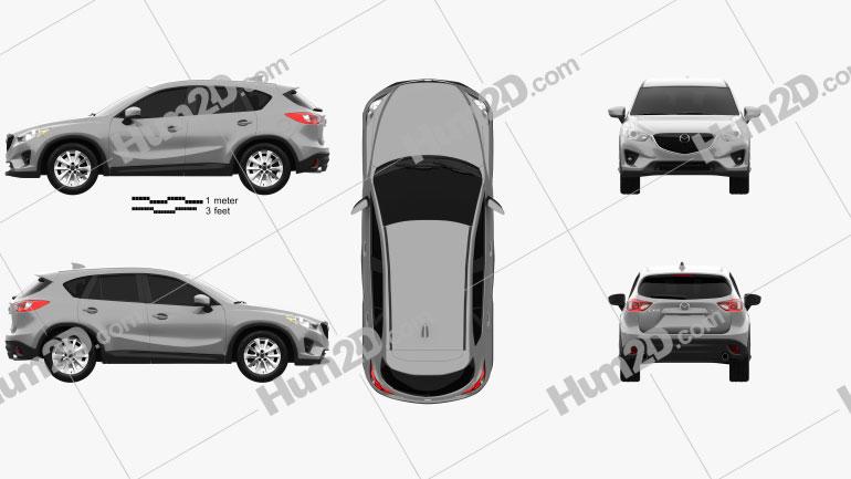 Mazda CX-5 US-spec 2012 Clipart Image