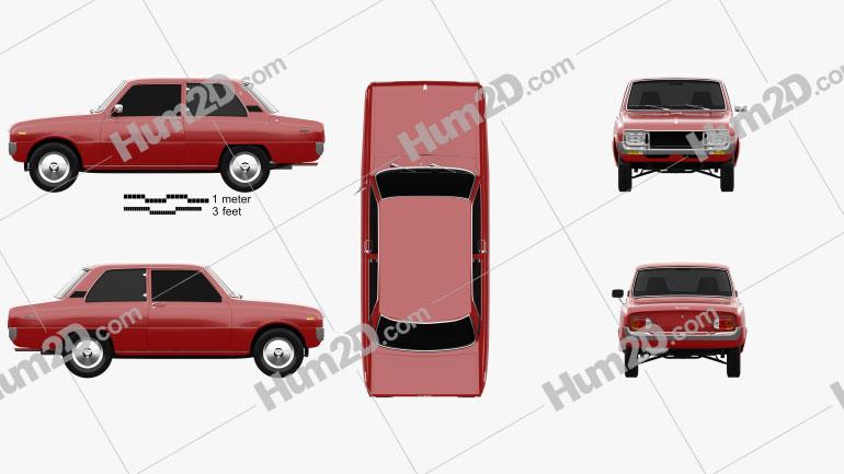 Mazda 1000 1973 car clipart