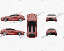 Mazda Kai 2017 car clipart