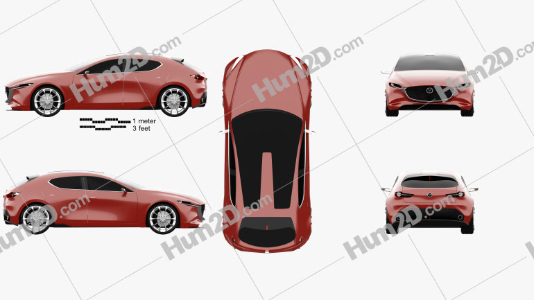 Mazda Kai 2017 Clipart Image
