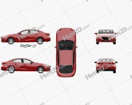 Mazda 3 sedan with HQ interior 2013