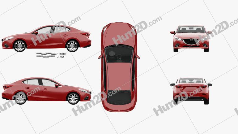 Mazda 3 sedan com interior HQ 2013 car clipart
