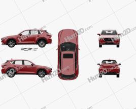Mazda CX-5 (KF) mit HD Innenraum 2017 car clipart