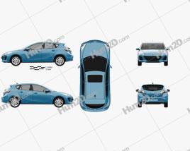 Mazda 3 BL2 US-spec hatchback 2011