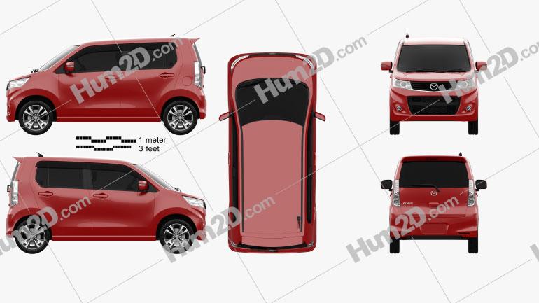 Mazda Flair Custom XT 2012 car clipart