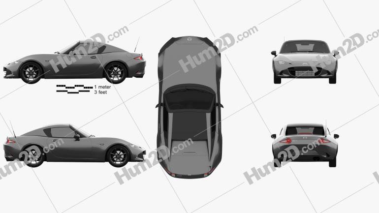 Mazda MX-5 RF 2016 car clipart