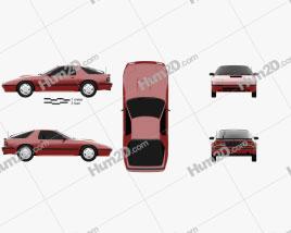Mazda RX-7 coupe 1985 Clipart