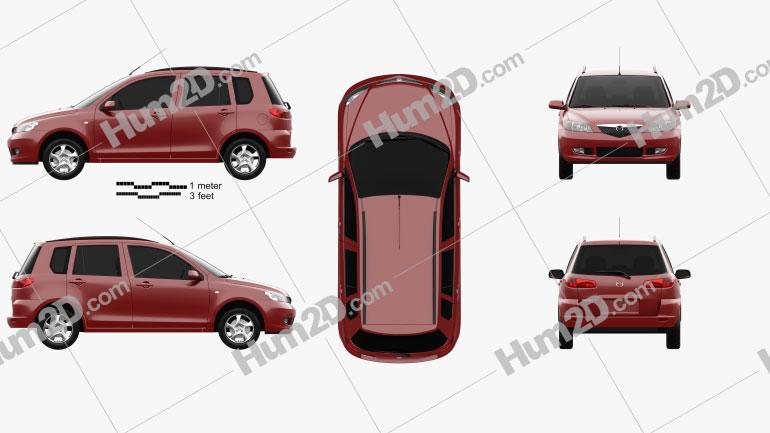 Mazda 2 2003 Clipart Image