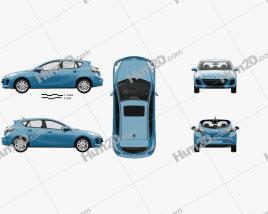 Mazda 3 US-spec hatchback  with HQ interior 2011