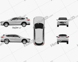 Mazda CX-8 2017 car clipart