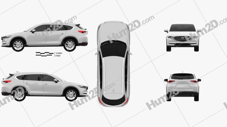 Mazda CX-8 2017 Clipart Image