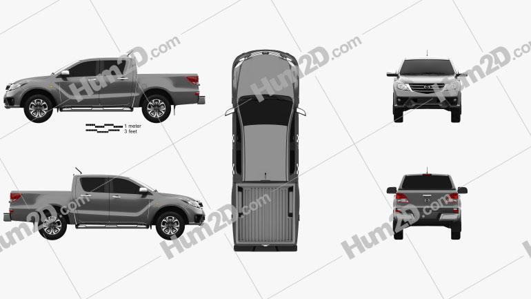 Mazda BT-50 Double Cab 2018 car clipart