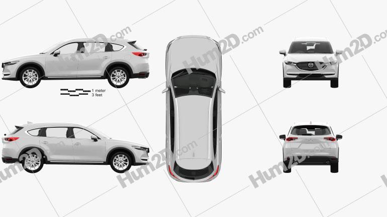 Mazda CX-8 with HQ interior 2017 car clipart