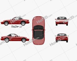 Mazda MX-5 convertible with HQ interior 1998