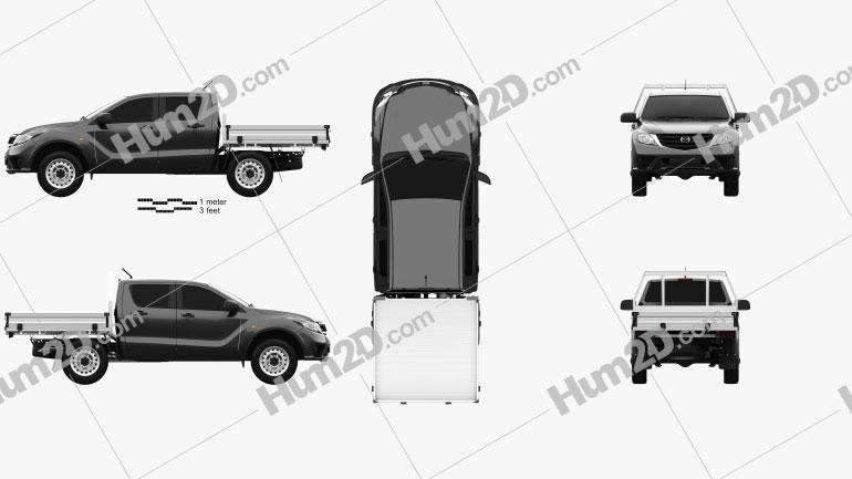 Mazda BT-50 Dual Cab Alloy Tray 2018 car clipart