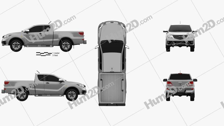Mazda BT-50 Freestyle Cab 2018 car clipart