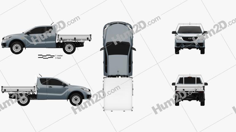 Mazda BT-50 Freestyle Cab Alloy Tray 2018 car clipart