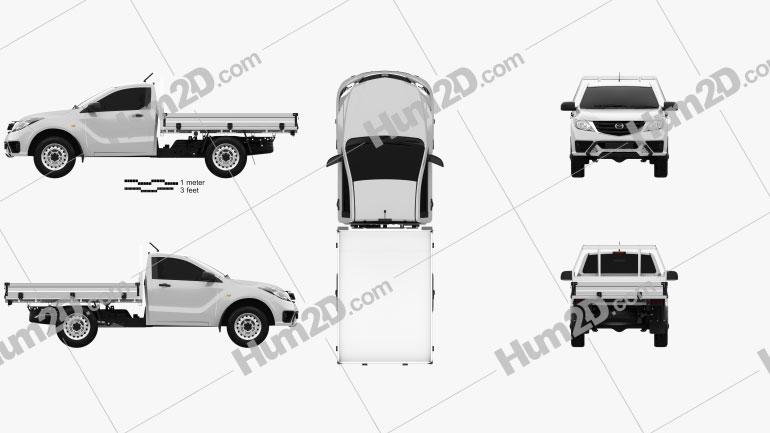 Mazda BT-50 Single Cab Alloy Tray 2018 car clipart