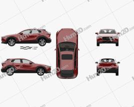 Mazda CX-30 mit HD Innenraum 2020 car clipart