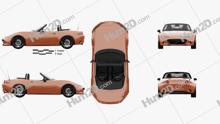Mazda MX-5 30th Anniversary convertible 2019 car clipart