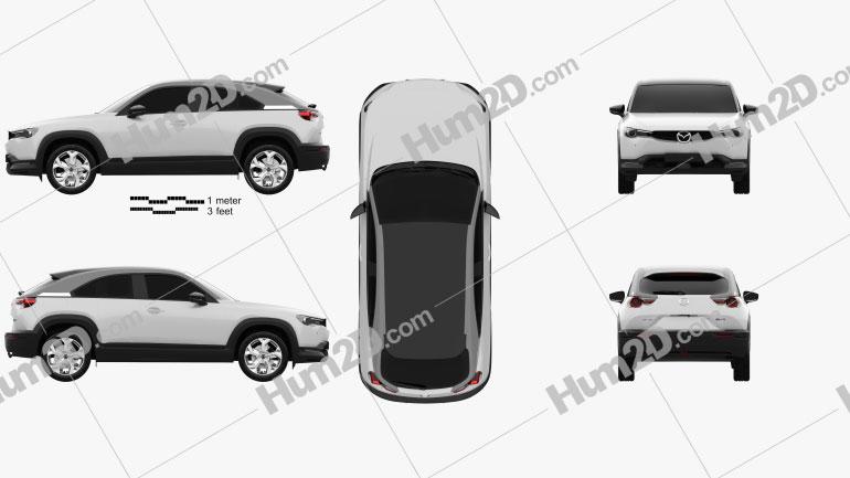 Mazda MX-30 2020 car clipart